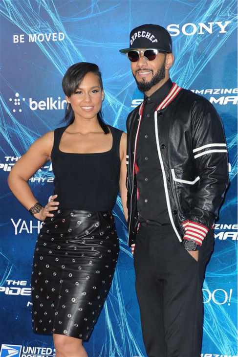 "<div class=""meta ""><span class=""caption-text "">Alicia Keys and husband Swizz Beatz appear at the premiere of 'The Amazing Spider-Man 2' in New York on April 24, 2014. (Humberto Carreno / Startraksphoto.com)</span></div>"