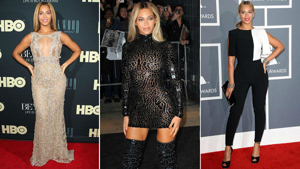 "<div class=""meta image-caption""><div class=""origin-logo origin-image ""><span></span></div><span class=""caption-text"">Beyonce's fashion.  We love Beyonce for her fashion. The singer can go from fancy formal to cool and casual and still look snazzy with curve-hugging dresses to colorful, flowing frocks and everything in between. While her Destiny's Child days might have seen her in some questionable outfits, she's grown significantly since then and she usually steps out into the world looking '***Flawless.'    (Pictured: Beyonce appears at the 'Life is But a Dream Screening' on Feb. 12, 2013. / Beyonce appears at the SVA Theater in New York City on Dec. 21, 2013. / Beyonce appears at the Grammy Awards on Feb. 10, 2013.) (Bill Davila/startraksphoto.com / Humberto Carreno / Startraksphoto.com /  KYLE ROVER/startraksphoto.com)</span></div>"