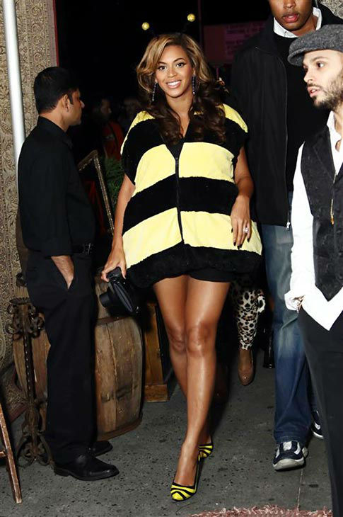 She doesn&#39;t take herself too seriously.   We love the fact that Beyonce doesn&#39;t take herself too seriously. In what we can only guess is an homage to her fans, known as the BeyHive, the singer stepped out on Halloween 2011 dressed as a bumble bee.   &#40;Pictured: Beyonce appears in costume at The Darby New York on Oct. 31, 2013.&#41; <span class=meta>(Sara Jaye Weiss&#47;StartraksPhoto.com)</span>