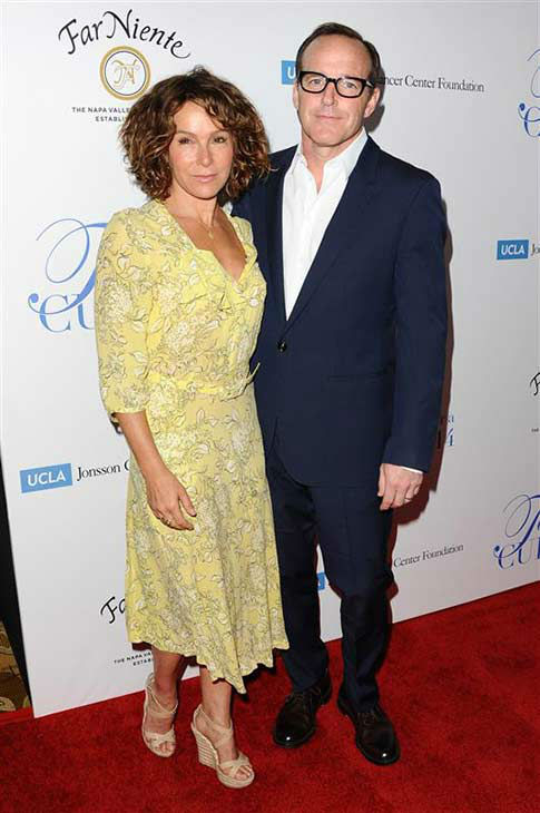Jennifer Grey of &#39;Dirty Dancing&#39; fame and husband Clark Gregg of Marvel&#39;s &#39;Agents of SHEILD&#39; appear at the 19th annual &#39;Taste For A Cure&#39; event in Los Angeles on April 25, 2014. <span class=meta>(Sara De Boer &#47; startraksphoto.com)</span>
