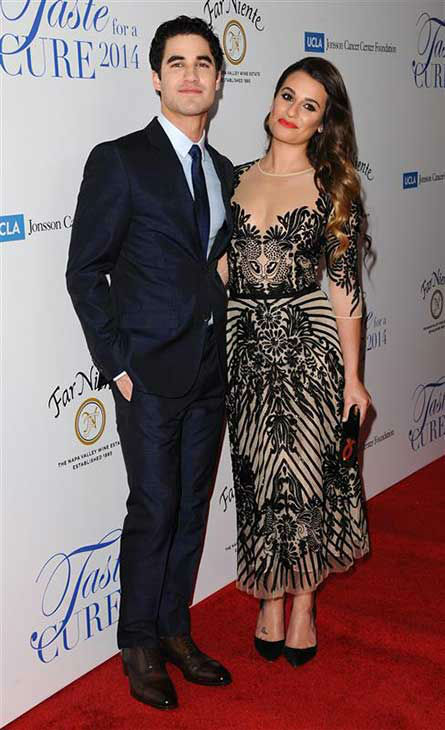 "<div class=""meta image-caption""><div class=""origin-logo origin-image ""><span></span></div><span class=""caption-text"">Lea Michele and Darren Criss appear at the 19th annual 'Taste For A Cure' event in Los Angeles on April 25, 2014. (Sara De Boer / startraksphoto.com)</span></div>"