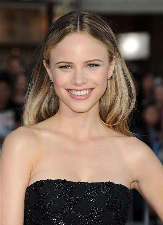 Halston Sage appears at the Los Angeles premiere of the comedy &#39;Neighbors&#39; on April 28, 2014. <span class=meta>(Hollywood Press &#47; startraksphoto.com)</span>