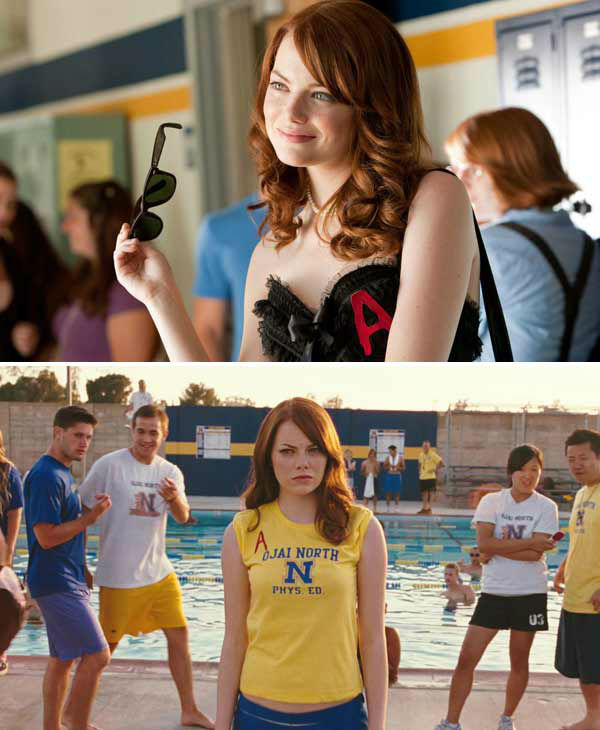 "<div class=""meta ""><span class=""caption-text "">We love Emma Stone because she taught us not to be afraid to stick it to the haters in the movie 'Easy A,' easily one of her greatest movie achievements. (Screen Gems)</span></div>"