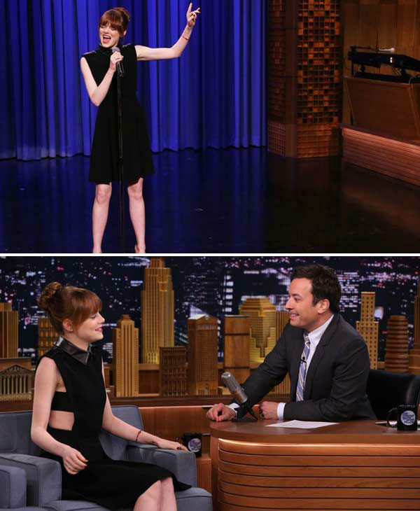 We love Emma Stone because no one, literally no one, can lip sync to &#39;Hook&#39; by Blues Traveler and &#39;All I Do Is Win&#39; by DJ Khaled as good as she can. Watch the actress perform the songs on &#39;The Tonight Show Starring Jimmy Fallon&#39; here. <span class=meta>(Nathaniel Chadwick &#47; NBC)</span>