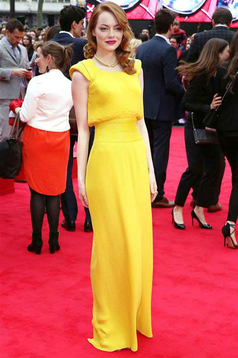 "<div class=""meta ""><span class=""caption-text "">We love Emma Stone because of her continued effort to slay the fashion scene on the red carpet, as evidenced in this custom yellow Atelier Versace gown at the London premiere of 'The Amazing Spider-Man 2' on April 10, 2014. (Richard Young / startraksphoto.com)</span></div>"
