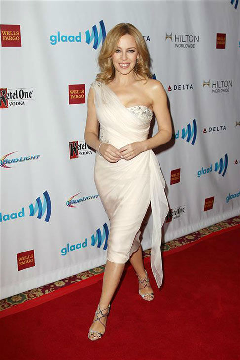"<div class=""meta ""><span class=""caption-text "">Kylie Minogue appears at the 2014 GLAAD Media Awards in New York City on May 3, 2014. (Kristina Bumphrey/Startraksphoto.com)</span></div>"