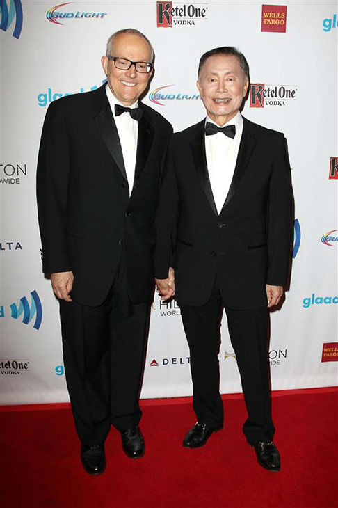 Brad Altman and George Takei appears at the 2014 GLAAD Media Awards in New York City on May 3, 2014. <span class=meta>(Kristina Bumphrey&#47;Startraksphoto.com)</span>