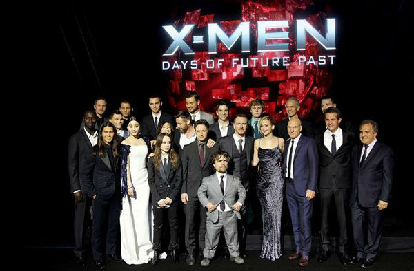 The cast of &#39;X-Men Days of Future Past&#39; appears at the global premiere of the film in New York City on May 10, 2014. <span class=meta>(Marion Curtis&#47;Startraksphoto.com)</span>