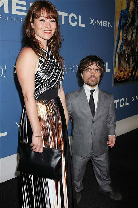 Peter Dinklage and Erica Schmidt appear at the global premiere of &#39;X-Men: Days of Future Past&#39; in New York City on May 10, 2014. <span class=meta>(Dave Allocca&#47;Startraksphoto.com)</span>