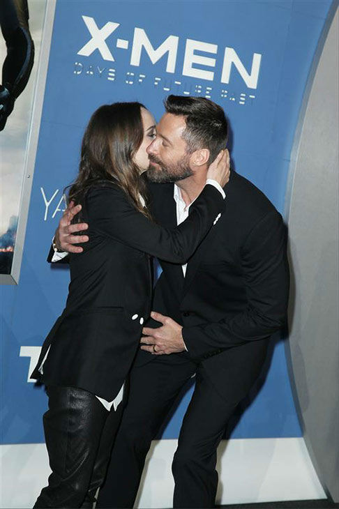 Ellen Page and Hugh Jackman appear at the global premiere of &#39;X-Men: Days of Future Past&#39; in New York City on May 10, 2014. <span class=meta>(Amanda Schwab&#47;Startraksphoto.com)</span>