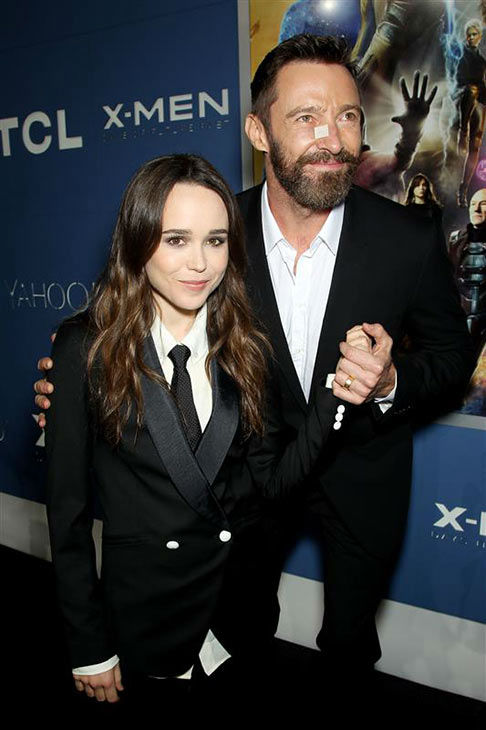 Ellen Page and Hugh Jackman appear at the global premiere of &#39;X-Men: Days of Future Past&#39; in New York City on May 10, 2014. <span class=meta>(Marion Curtis&#47;Startraksphoto.com)</span>