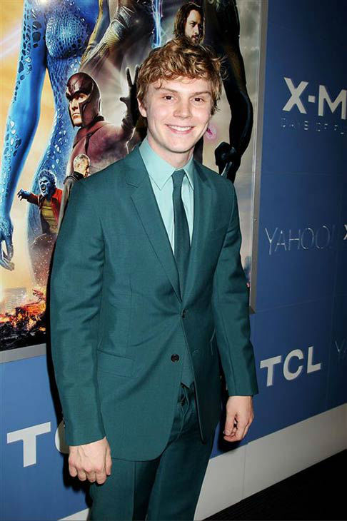 Evan Peters appears at the global premiere of &#39;X-Men: Days of Future Past&#39; in New York City on May 10, 2014. <span class=meta>(Dave Allocca&#47;Startraksphoto.com)</span>