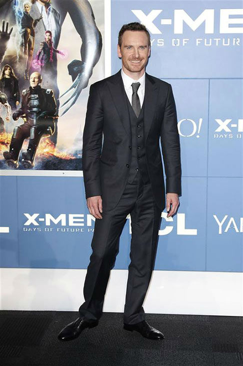 Michael Fassbender appears at the global premiere of &#39;X-Men: Days of Future Past&#39; in New York City on May 10, 2014. <span class=meta>(Kristina Bumphrey&#47;Startraksphoto.com)</span>