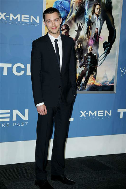Nicholas Hoult appears at the global premiere of &#39;X-Men: Days of Future Past&#39; in New York City on May 10, 2014. <span class=meta>(Amanda Schwab&#47;Startraksphoto.com)</span>