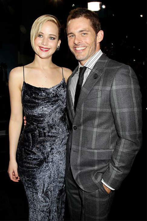 Jennifer Lawrence and James Marsden appear at the global premiere of &#39;X-Men: Days of Future Past&#39; in New York City on May 10, 2014. <span class=meta>(Dave Allocca&#47;Startraksphoto.com)</span>