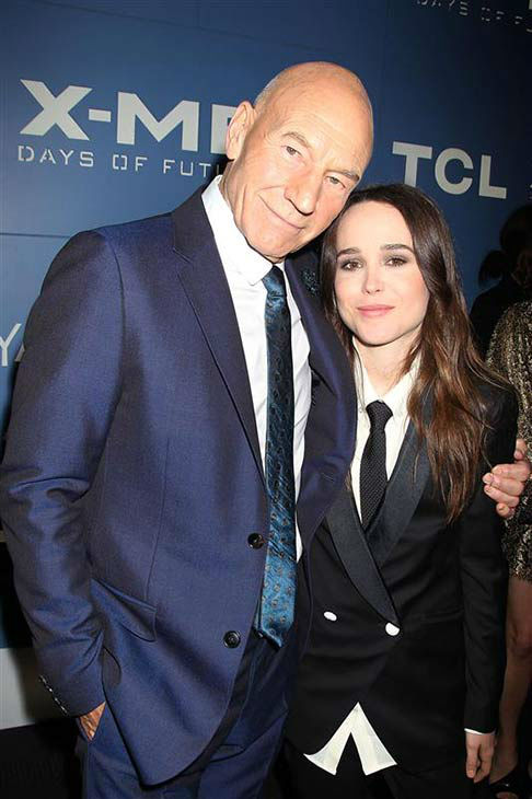 Patrick Stewart and Ellen Page appear at the global premiere of &#39;X-Men: Days of Future Past&#39; in New York City on May 10, 2014. <span class=meta>(Dave Allocca&#47;Startraksphoto.com)</span>
