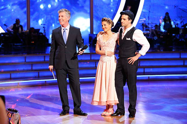 Candace Cameron Bure and Mark Ballas danced the Viennese Waltz on week nine of &#39;Dancing With The Stars&#39; on May 12, 2014. They received 34 out of 40 points from the judges. The pair also received 38 out of 40 points for their Jazz routine. <span class=meta>(ABC Photo&#47; Adam Taylor)</span>