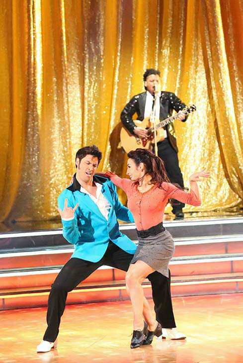 Meryl Davis and Maksim Chmerkovskiy dance the Jive on week nine of &#39;Dancing With The Stars&#39; on May 12, 2014. They received 40 out of 40 points from the judges. The pair also received 40 out of 40 points for their Viennese Waltz. <span class=meta>(ABC Photo&#47; Adam Taylor)</span>