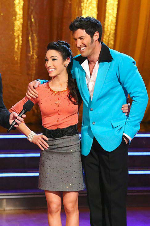 Meryl Davis and Maksim Chmerkovskiy danced the Jive on week nine of &#39;Dancing With The Stars&#39; on May 12, 2014. They received 40 out of 40 points from the judges. The pair also received 40 out of 40 points for their Viennese Waltz. <span class=meta>(ABC Photo&#47; Adam Taylor)</span>