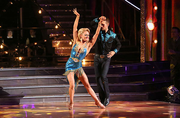 James Maslow and Peta Murgatroyd dance the Rumba on week nine of &#39;Dancing With The Stars&#39; on May 12, 2014. They received 36 out of 40 points from the judges. The pair also received 40 out of 40 points for their Cha Cha Cha. <span class=meta>(ABC Photo&#47; Adam Taylor)</span>