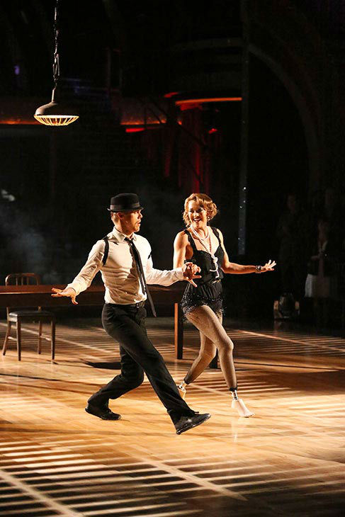 Amy Purdy and Derek Hough perform a Jazz routine on week nine of &#39;Dancing With The Stars&#39; on May 12, 2014. They received 39 out of 40 points from the judges. The pair also received 39 out of 40 points for their Quickstep. <span class=meta>(ABC Photo&#47; Adam Taylor)</span>