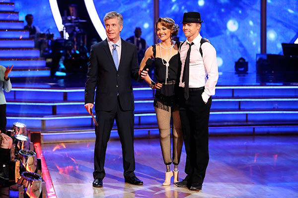 "<div class=""meta ""><span class=""caption-text "">Amy Purdy and Derek Hough performed a Jazz routine on week nine of 'Dancing With The Stars' on May 12, 2014. They received 39 out of 40 points from the judges. The pair also received 39 out of 40 points for their Quickstep. (ABC Photo/ Adam Taylor)</span></div>"