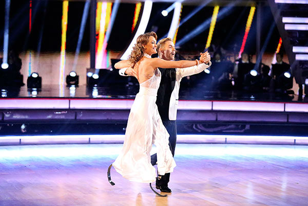 "<div class=""meta ""><span class=""caption-text "">Amy Purdy and Derek Hough dance the Quickstep on week nine of 'Dancing With The Stars' on May 12, 2014. They received 39 out of 40 points from the judges. The pair also received 39 out of 40 points for their Jazz routine. (ABC Photo/ Adam Taylor)</span></div>"