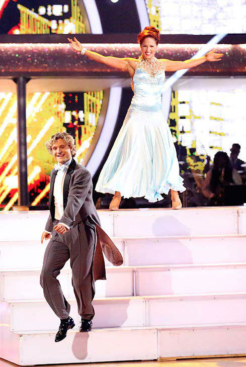 Charlie White and Sharna Burgess dance the Foxtrot on week nine of &#39;Dancing With The Stars&#39; on May 12, 2014. They received 40 out of 40 points from the judges. The pair also received 36 out of 40 points for their Viennese Waltz. <span class=meta>(ABC Photo&#47; Adam Taylor)</span>
