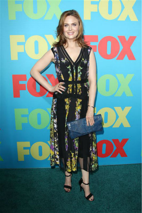 "<div class=""meta ""><span class=""caption-text "">Emily Deschanel, star of the FOX show 'Bones,' appears at the network's 2014 Upfront presentation in New York on May 12, 2014. (Kristina Bumphrey / Startraksphoto.com)</span></div>"