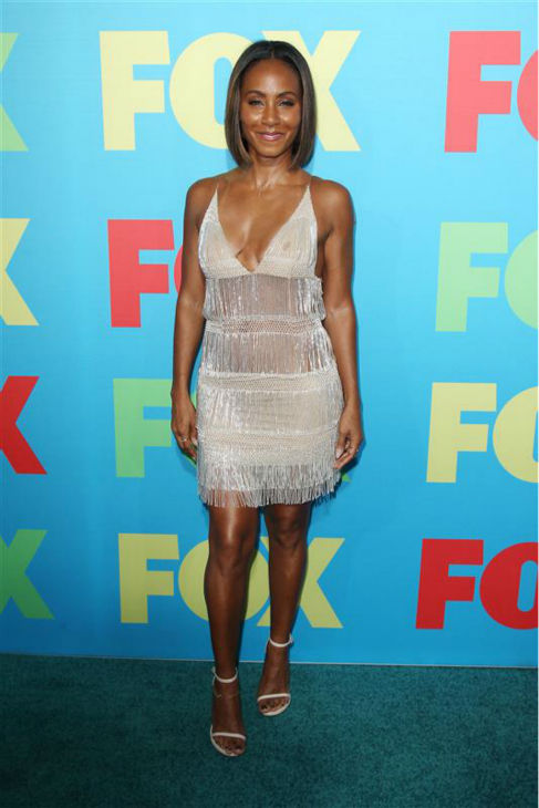 "<div class=""meta image-caption""><div class=""origin-logo origin-image ""><span></span></div><span class=""caption-text"">Jada Pinkett Smith, star of the new FOX show 'Gotham,' appears at the network's 2014 Upfront presentation in New York on May 12, 2014. (Kristina Bumphrey / Startraksphoto.com)</span></div>"