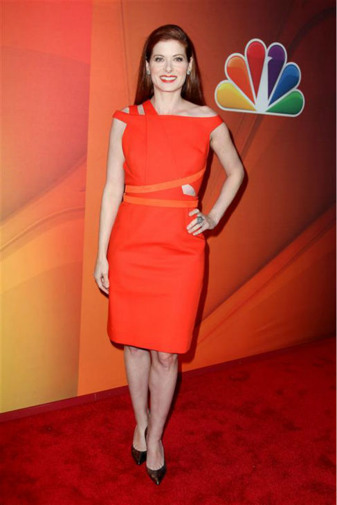 "<div class=""meta image-caption""><div class=""origin-logo origin-image ""><span></span></div><span class=""caption-text"">Debra Messing appears at NBC's 2014 Upfront presentation in New York on May 12, 2014. The actress, last seen in the network's musical series 'Smash' and former star of its hit comedy 'Will and Grace,' stars in the new NBC series 'The Mysteries of Laura,' which is set to premiere in fall 2014. (Amanda Schwab / Startraksphoto.com)</span></div>"