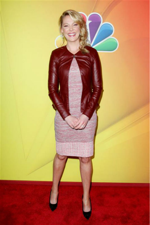 "<div class=""meta ""><span class=""caption-text "">Katherine Heigl appears at NBC's 2014 Upfront presentation in New York on May 12, 2014. The former star of ABC's 'Grey's Anatomy' and 'Knocked Up' and '27 Dresses' actress returns to TV as the star of the new NBC series 'State of Affairs.' The show is set to premiere in November.  (Amanda Schwab / Startraksphoto.com)</span></div>"