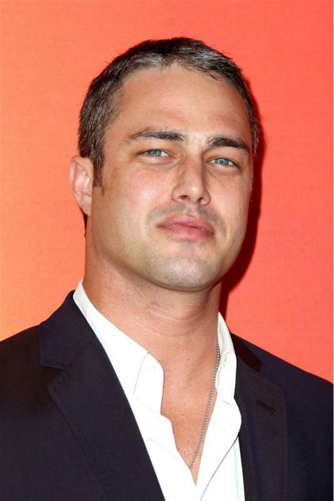 Taylor Kinney, who stars in the NBC series &#39;Chicago Fire,&#39; appears at the network&#39;s 2014 Upfront presentation in New York on May 12, 2014. Upfront presentation in New York on May 12, 2014.  <span class=meta>(Amanda Schwab &#47; Startraksphoto.com)</span>