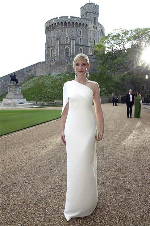 Cate Blanchett arrives for a dinner to celebrate the work of The Royal Marsden hosted by the Duke of Cambridge at Windsor Castle Tuesday May 13, 2014 in Windsor, England.  <span class=meta>(Rex Features&#47;startraksphoto.com)</span>