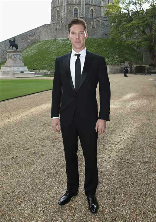 Benedict Cumberbatch arrives for a dinner to celebrate the work of The Royal Marsden hosted by the Duke of Cambridge at Windsor Castle Tuesday May 13, 2014 in Windsor, England.   <span class=meta>(Rex Features&#47;startraksphoto.com)</span>