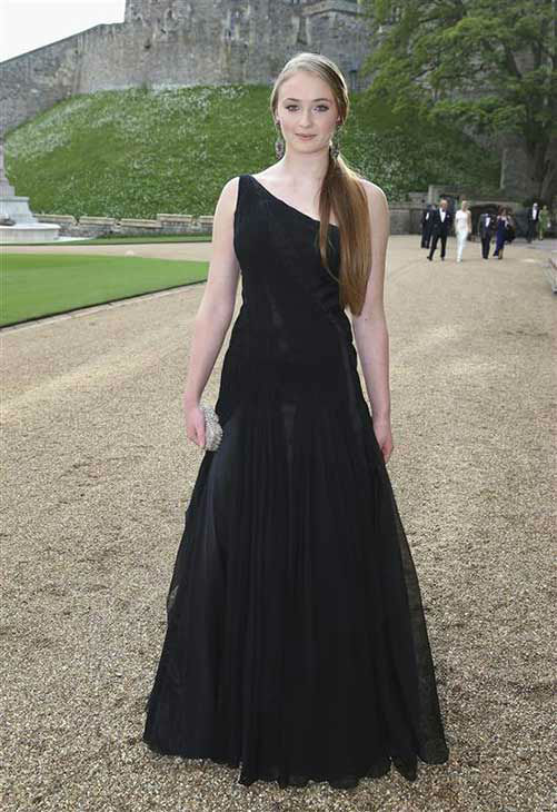 Sophie Turner arrives for a dinner to celebrate the work of The Royal Marsden hosted by the Duke of Cambridge at Windsor Castle Tuesday May 13, 2014 in Windsor, England.   <span class=meta>(Rex Features&#47;startraksphoto.com)</span>