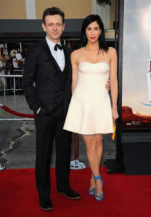 Michael Sheen and  Sarah Silverman appear at the Los Angeles premiere of &#39;A Million Ways to Die in the West&#39; on May 15, 2014. <span class=meta>(Sara De Boer&#47;startraksphoto.com)</span>