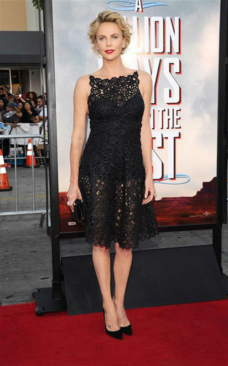 Charlize Theron appears at the Los Angeles premiere of &#39;A Million Ways to Die in the West&#39; on May 15, 2014.  <span class=meta>(Sara De Boer&#47;startraksphoto.com)</span>