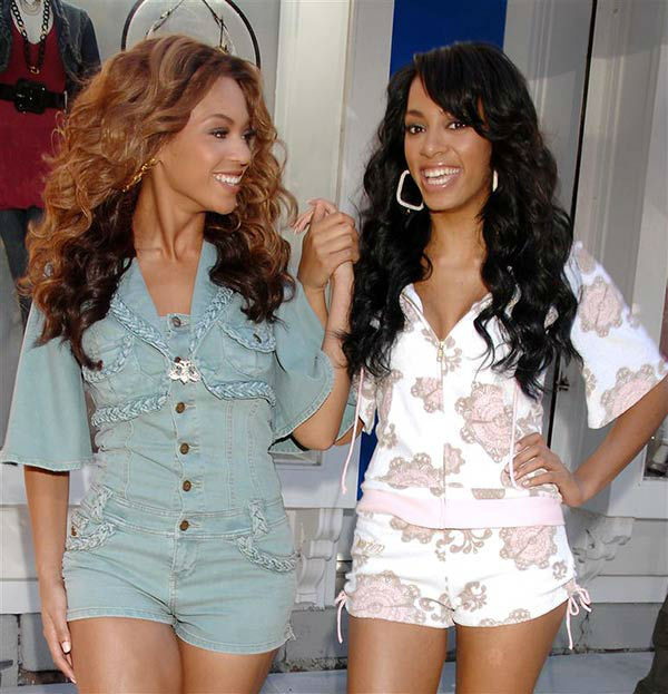 Beyonce Knowles and Solange Knowles shoots an ad campaign for Beyonce&#39;s clothing line The House of Dereon on Nov. 9, 2006. <span class=meta>(Bill Davila&#47;startraksphoto.com)</span>