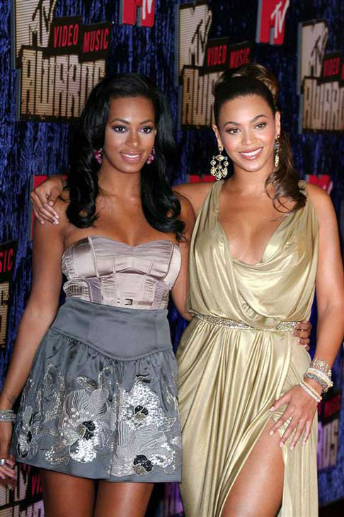 Beyonce and Solange appear at the 2007 MTV Video Music Awards on Nov. 7, 2007.  <span class=meta>(Jen Lowery&#47;startraksphoto.com)</span>