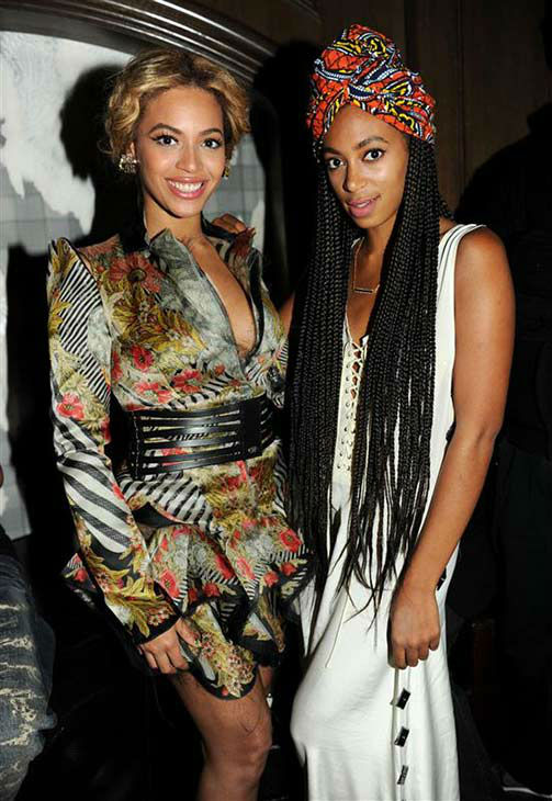 "<div class=""meta ""><span class=""caption-text "">Beyonce and Solange appear at a New Year's Eve event at Marquee Nightclub at The Cosmopolitan in Las Vegas on Dec. 30, 2010. (Seth Browarnik/startraksphoto.com)</span></div>"