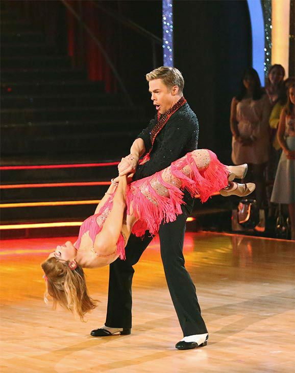 Amy Purdy and Derek Hough dance the Salsa on week 10 of &#39;Dancing With The Stars&#39; on May 19, 2014. They received 30 out of 30 points from the judges. The pair also received 29 out of 30 points for their Freestyle. <span class=meta>(ABC&#47;Adam Taylor)</span>