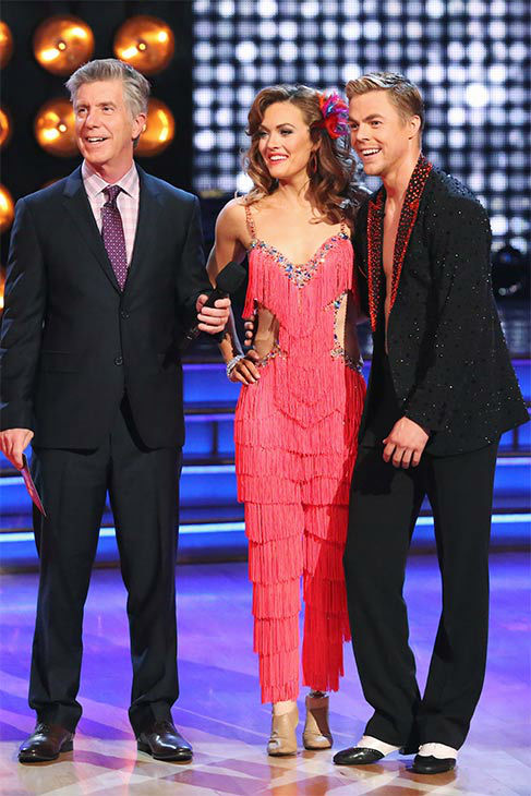 Amy Purdy and Derek Hough danced the Salsa on week 10 of &#39;Dancing With The Stars&#39; on May 19, 2014. They received 30 out of 30 points from the judges. The pair also received 29 out of 30 points for their Freestyle. <span class=meta>(ABC&#47;Adam Taylor)</span>