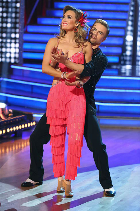 "<div class=""meta image-caption""><div class=""origin-logo origin-image ""><span></span></div><span class=""caption-text"">Amy Purdy and Derek Hough danced the Salsa on week 10 of 'Dancing With The Stars' on May 19, 2014. They received 30 out of 30 points from the judges. The pair also received 29 out of 30 points for their Freestyle. (ABC/Adam Taylor)</span></div>"