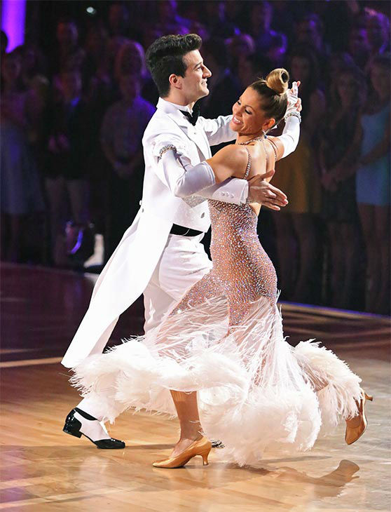 "<div class=""meta image-caption""><div class=""origin-logo origin-image ""><span></span></div><span class=""caption-text"">Candace Cameron Bure and Mark Ballas dance the Quickstep on week 10 of 'Dancing With The Stars' on May 19, 2014. They received 27 out of 30 points from the judges. The pair also received 24 out of 30 points for their Freestyle. (ABC/Adam Taylor)</span></div>"