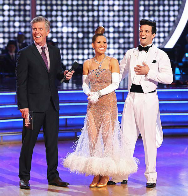 "<div class=""meta image-caption""><div class=""origin-logo origin-image ""><span></span></div><span class=""caption-text"">Candace Cameron Bure and Mark Ballas danced the Quickstep on week 10 of 'Dancing With The Stars' on May 19, 2014. They received 27 out of 30 points from the judges. The pair also received 24 out of 30 points for their Freestyle. (ABC/Adam Taylor)</span></div>"