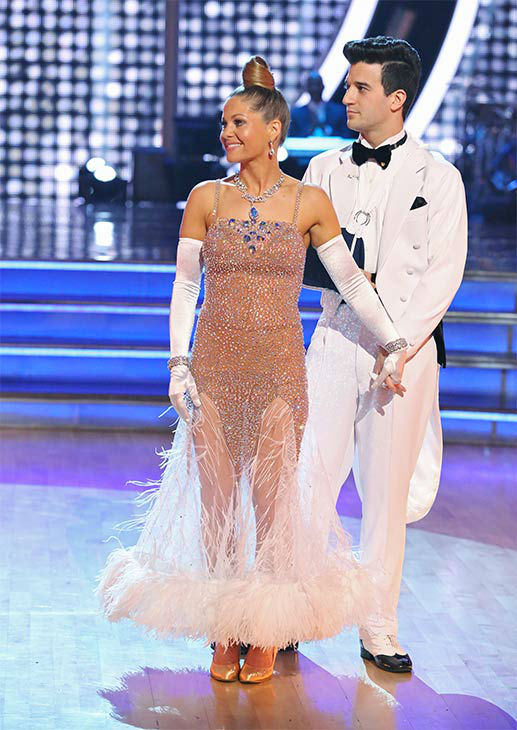 Candace Cameron Bure and Mark Ballas danced the Quickstep on week 10 of &#39;Dancing With The Stars&#39; on May 19, 2014. They received 27 out of 30 points from the judges. The pair also received 24 out of 30 points for their Freestyle. <span class=meta>(ABC&#47;Adam Taylor)</span>