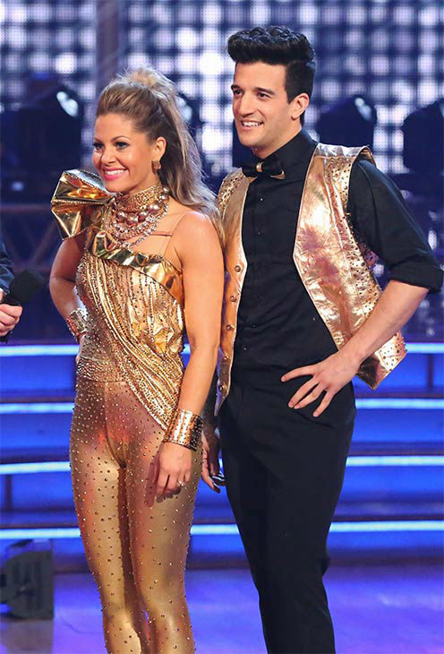 "<div class=""meta image-caption""><div class=""origin-logo origin-image ""><span></span></div><span class=""caption-text"">Candace Cameron Bure and Mark Ballas performed a Freestyle routine on week 10 of 'Dancing With The Stars' on May 19, 2014. They received 24 out of 30 points from the judges. The pair also received 27 out of 30 points for their Quickstep. (ABC/Adam Taylor)</span></div>"