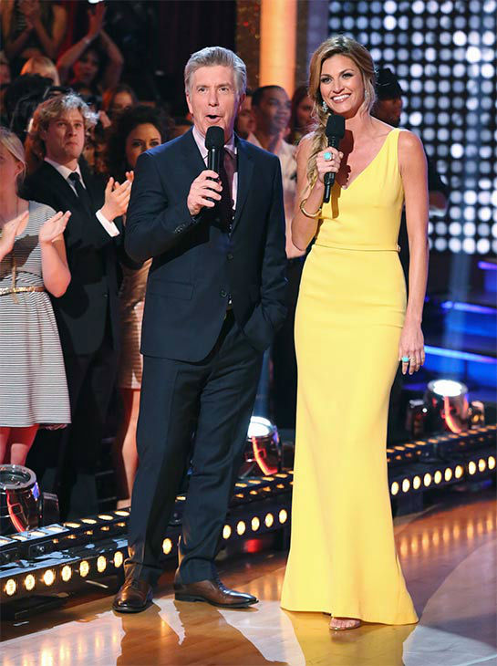 "<div class=""meta image-caption""><div class=""origin-logo origin-image ""><span></span></div><span class=""caption-text"">Tom Bergeron and Erin Andrews appear in a still from 'Dancing With The Stars' season 18 on May 19, 2014. (ABC/Adam Taylor)</span></div>"
