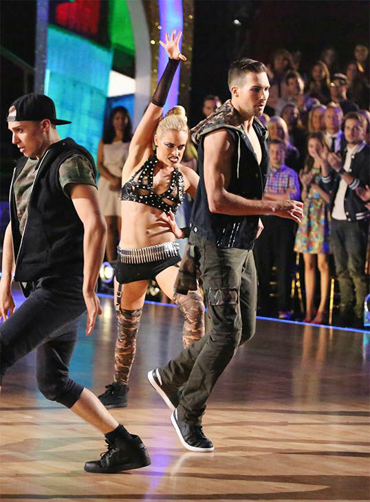 James Maslow and Peta Murgatroyd dance a Freestyle routine on week 10 of &#39;Dancing With The Stars&#39; on May 19, 2014. They received 29 out of 30 points from the judges. The pair also received 29 out of 30 points for their Tango. <span class=meta>(ABC&#47;Adam Taylor)</span>